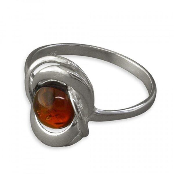 Cognac amber looped bead