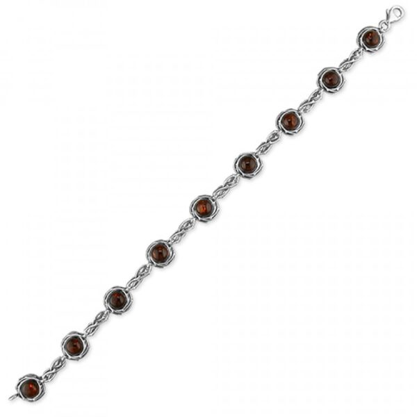 Cognac amber open rope-edge circles