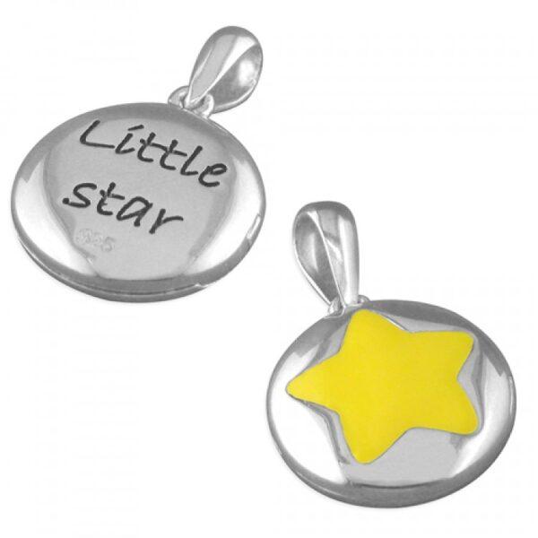 Pippa yellow enamel star pendant