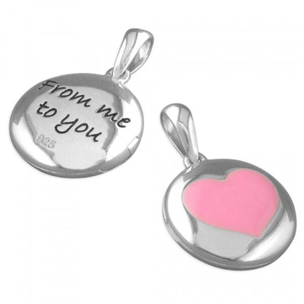 Pippa enamel heart pendant