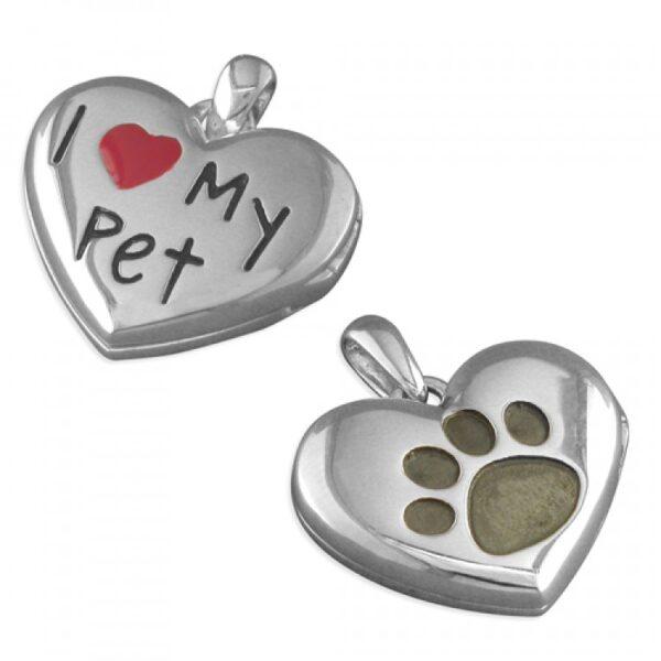 Pippa I-Love-my pet heart pendant