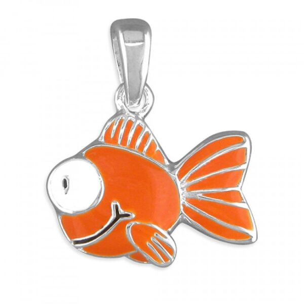 Pippa orange goldfish pendant