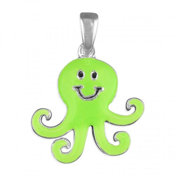 Pippa green octopus pendant