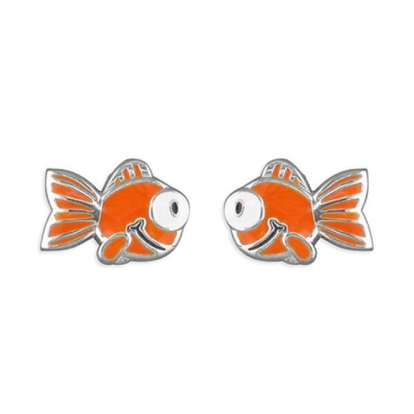 Pippa orange goldfish stud