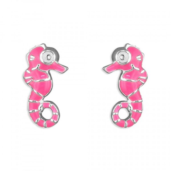Pippa pink seahorse stud