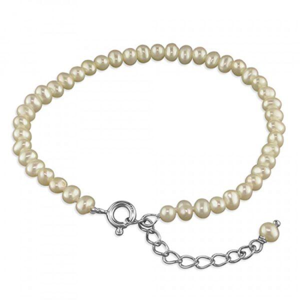 Pippa 15-18cm white fresh water pearl bracelet