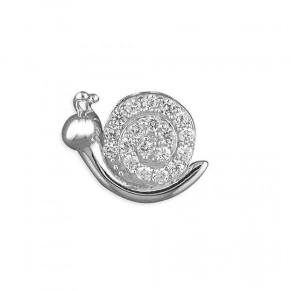 Pippa cubic zirconia snail pendant