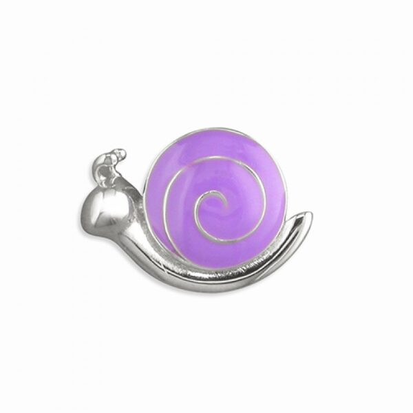 Pippa purple enamel snail pendant