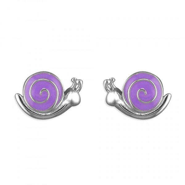 Pippa purple enamel snail stud