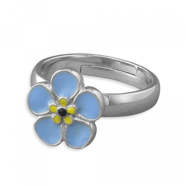 Pippa forget-me-not adjustable ring
