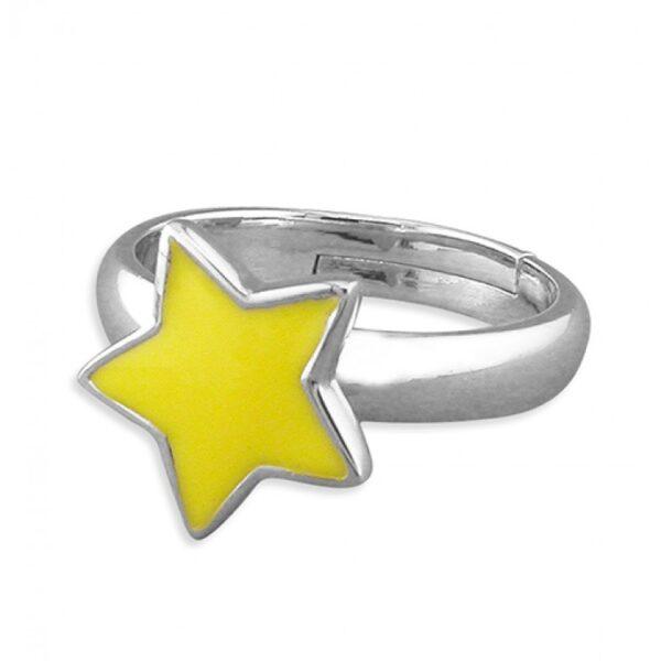 Pippa yellow star adjustable ring