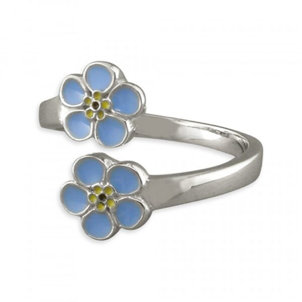 Pippa double forget-me-not adjustable ring