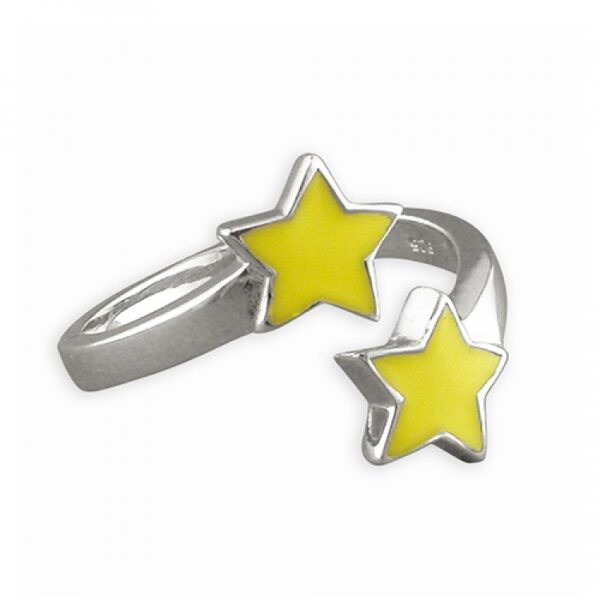 Pippa double star adjustable ring