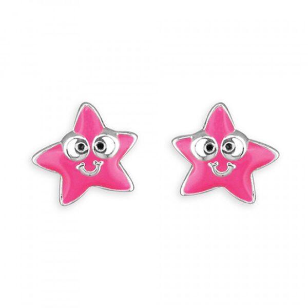Pippa pink starfish stud
