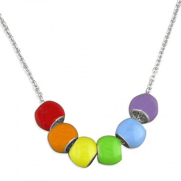 30-35cm pippa rainbow beads necklace