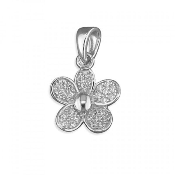 Pippa cubic zirconia daisy pendant
