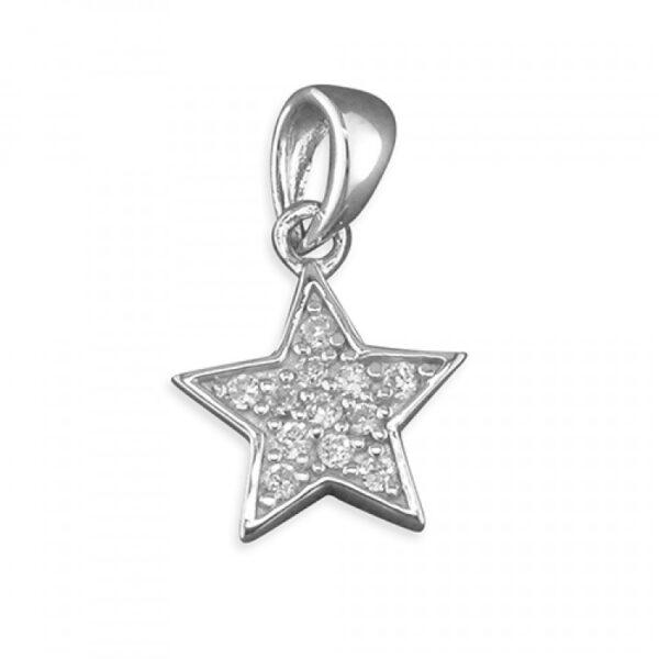 Pippa cubic zirconia star pendant