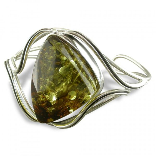 Large green amber with waves