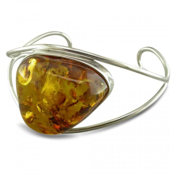 Large wire sided cognac amber