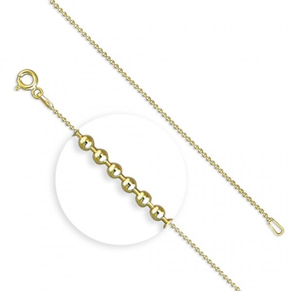 46cm/18in gold plated beads
