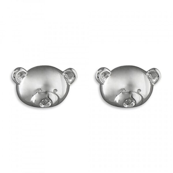 PIPPA diamond-set teddy bear stud