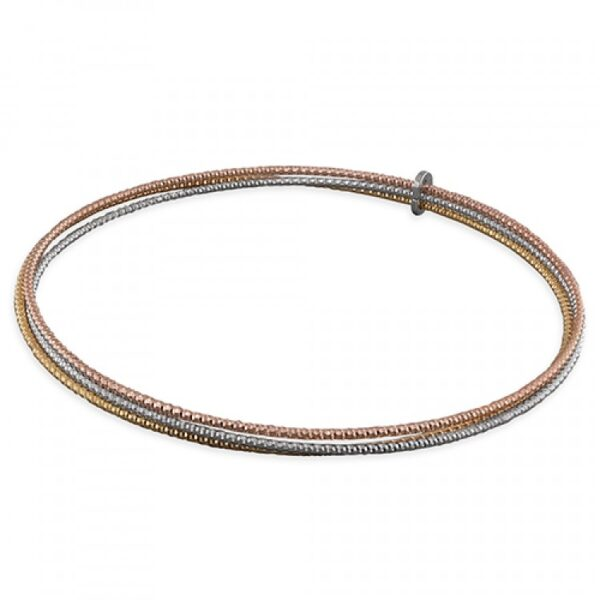 Diamond-cut 3-tone triple slave with loop