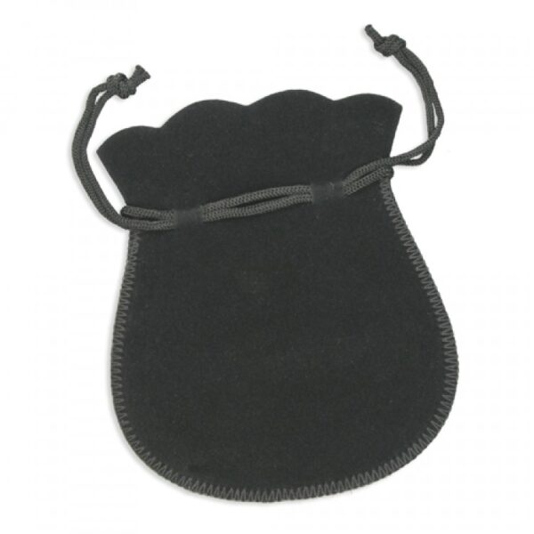 Black drowstring pouch