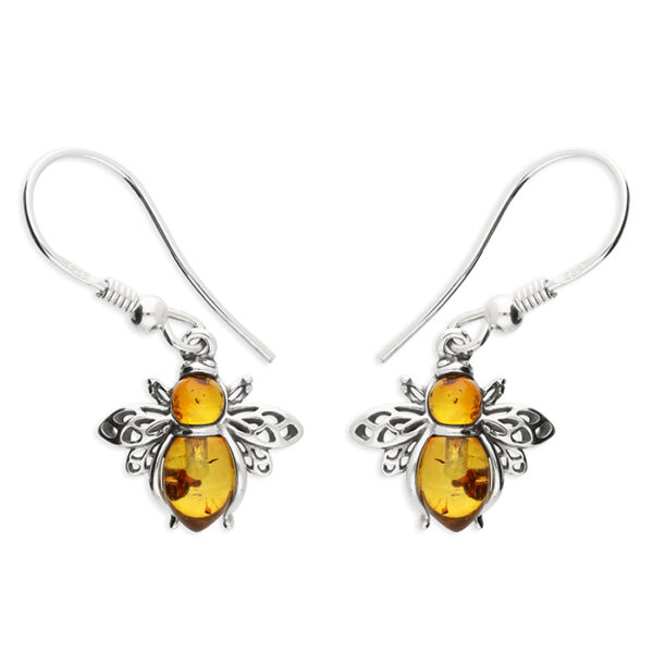 Cognac amber bee hook-in drop