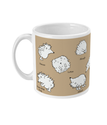Hedgehog Yoga Pose Mug