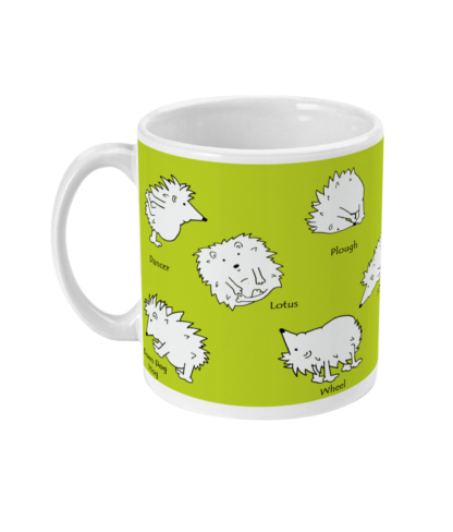 Yoga Gifts Yoga Mug Hedgehog Gift Hedgehog Mug Funny Yoga Poses