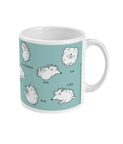 Hedgehog Yoga Mug | Hedgehog Mug | 11Fun Yoga Poses Fun Yoga Poses