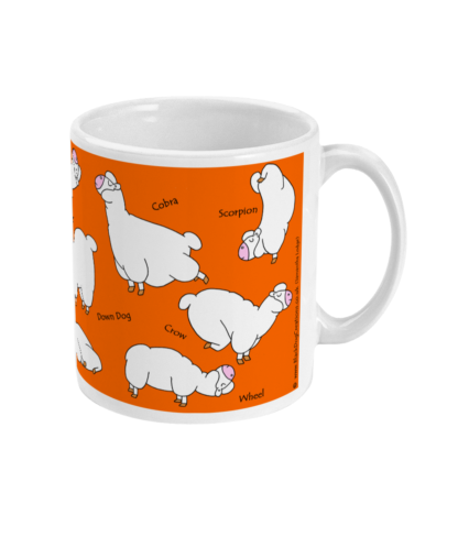 Yoga Mug Yoga Gifts Alpaca Llama Yoga Gift For Her Gift For Men Mug, Best Friend Meditation Mindfulness Gift Llama Lover
