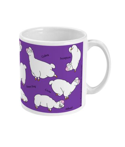 oga Mug Yoga Gifts Alpaca Llama Yoga Gift For Her Gift For Men Mug, Best Friend Meditation Mindfulness Gift Llama Lover