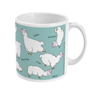 Yoga Mug Yoga Gifts Alpaca Llama Yoga Gift