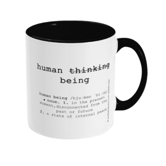 By Being Yourself 11 ounce Quote Mug Meditation Coffee Cup Yoga Lovers Mug