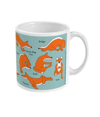 Fox Mug Yoga, Yoga Mug Yoga Gifts, Ceramic Mug