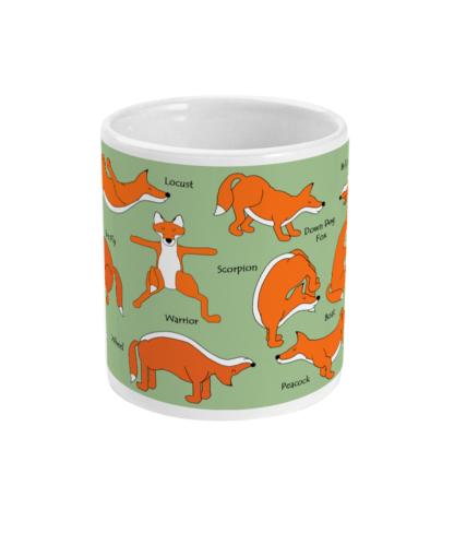 Red Fox Yoga, Yoga Mug Yoga Gifts, Ceramic Mug Countryside Gifts For Fox Lovers Fox Gift, Fox Mindfulness Gift 12FOXYOMUGL