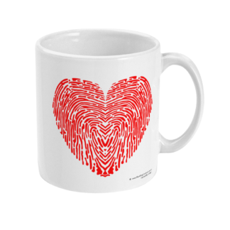 I Love You Fingerprint Heart Coffee Mug Valentines Gift Anniversary Gift Valentines Day Gift For Him Valentines Day Gift For Her Gift For Her Gift For Him LOVEYOUMUG