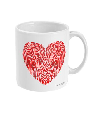 I Love You Fingerprint Heart Coffee Mug Valentines Gift Anniversary Gift Valentines Day Gift For Him Valentines Day Gift For Her Gift For Her Gift For Him LOVEYOUMUG