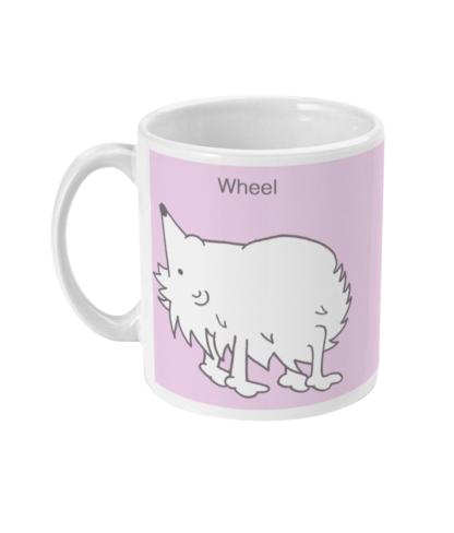 Hedgehog Yoga Pose Mug – Funny Wheel Pose 11 floz Coffee Mug