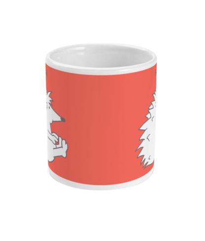 Hedgehog Yoga Pose Mug - Funny Boat Pose 11 floz Coffee Mug