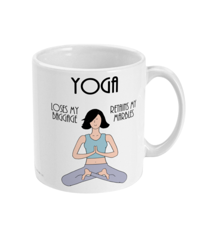 Funny Yoga Mug and Yoga Gifts For Women, Her or Mindfulness Gift and Fun Yoga Coffee Mug,Yoga Benefits Definition 11oz Ceramic Mug Birthday Gift Christmas Gift For Yogi or meditator