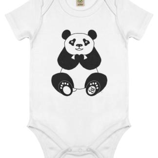 Unisex Peace Panda Om Bodysuit Organic Cotton (Newborn -18 months) white