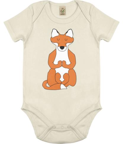 Unisex Yoga Fox Bodysuit Organic Cotton (Newborn -18 months)
