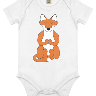 Unisex Yoga Fox Bodysuit Organic Cotton (Newborn -18 months)