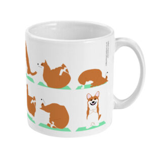 Pembrokeshire Welsh Corgi Yoga Mug 11 floz Ceramic Coffee Mug
