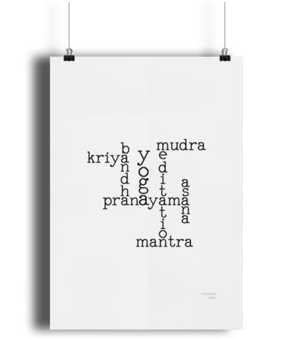 Yoga Elements Poster - Giclee Art Print - Yoga Wall Art YOXWORDPOSTER