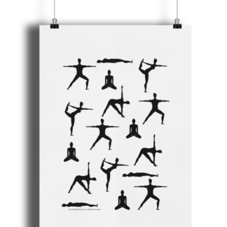Yoga-Silhouette-Poses-Poster-Giclee-Art-Print-Yoga-Wall-Art