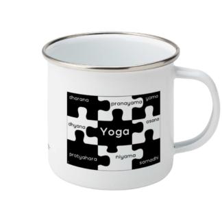 8 Limbs of Yoga Jigsaw Enamel Mug Enamel Mug Y_8LIMBS_JIGSAW_ENA