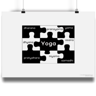 8 Limbs of Yoga Jigsaw Poster Giclee Art Print Matte Finish